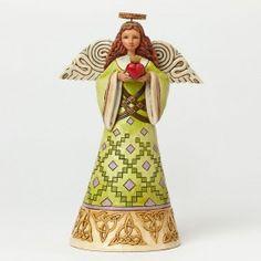 Love is Close At Hand-Irish Angel Holding Heart Figurine - Angel