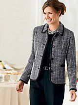 Copley Tweed Jacket and other Womens Jackets and Clothing in Misses, Petite, and Plus Sizes. | Appleseeds