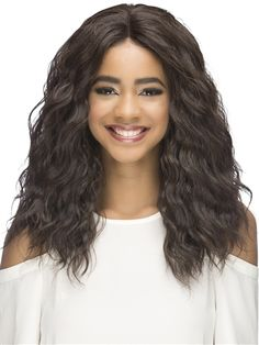Kona Wig by Vivica Fox: Kona is a perfect length for loose waves and makes a popular street style that is full and fun. Loose Curls, Loose Waves, Vivica Fox, Styling Brush, Wig Stand, Synthetic Lace Front Wigs, Long Curly, Hair Dos, Hair Pieces