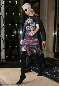 Skirting the issue: Cara Delevingne, 22, continued to display her personal fashion flare a...