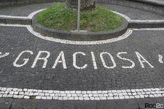 Roc2c: 9 Ilhas dos Açores em calçada portuguesa Pavement, Portugal, Numbers, Letters, Roof Tiles, Iron, Husband, Kitchen, Tiles