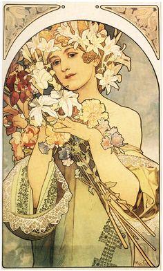 Alphonse Mucha (1860-1939) fue uno de los artistas más conocidos de su tiempo, creador y divulgador del estilo Art Nouveau, pionero en la aplicación del arte a la publicidad y uno de los padres del diseño gráfico moderno.