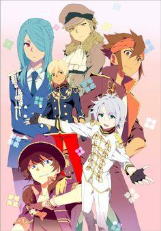 Inazuma Eleven and Uta no Prince-sama crossover - Endou Mamoru, Kazemaru Ichirouta, Gouenji Shuuya, Fubuki Shirou, Kidou Yuuto, Fudou Akio