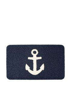 Amazon.com : Kikkerland Anchor Doormat, 30 by 18-Inch : Nautical Mats : Patio, Lawn & Garden