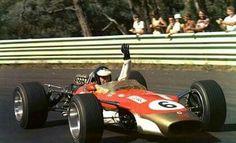 Jim Clark, Lotus 49 DFW, WF 1968.| Warwick Farm - Australia (Tasman Series) (Peter Windsor)
