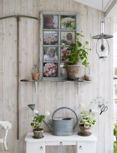 Love the hanging scissors and twine in this Swedish cottage. #coachbarn #design #furniture #decor