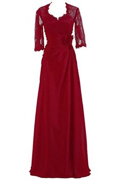 Gorgeous BrideElegant Lang Aermel A-Linie Chiffon Spitze Brautmutterkleid Ballkleid Festkleid-58 Rot Gorgeous Bride http://www.amazon.de/dp/B00MB763CY/ref=cm_sw_r_pi_dp_soVNvb1KGZXCB