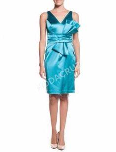 Mavi Turkuvaz abiye elbise,saten elbise,kalem elbise 38 beden