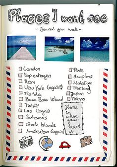 travel checklist, oh how I want to scrapbook this.