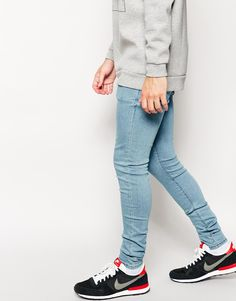 ASOS | ASOS Extreme Super Skinny Jeans In Heavy Wash at ASOS | My