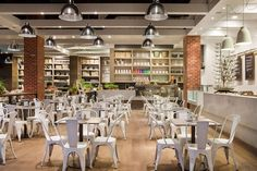 A great shot of Capital Kitchen's interior seating area.