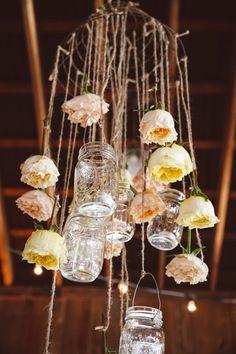 mason jar flower chandelier amelia dan wedding diy vintage mason jar chandelier