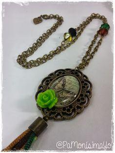 ♥ Collar camafeo mariposa vintage