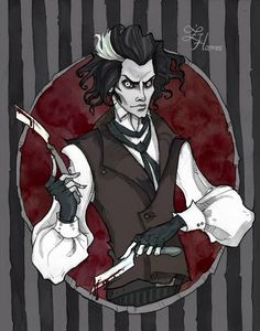 Sweeney Todd: The Demon Barber of Fleet Street This is one of the most favorite movies! Pigmented ink liner, watercolor and a bit of P. Tim Burton Kunst, Tim Burton Art, Arte Horror, Horror Art, Vocaloid, Abigail Larson, Tim Burton Characters, Johnny Depp Movies, Sweeney Todd