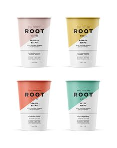by Salih Küçükağa - Root blends pt 4 - Food Branding, Food Packaging Design, Beverage Packaging, Coffee Packaging, Bottle Packaging, Brand Packaging, Product Packaging Design, Yogurt Packaging, Coffee Shop Branding