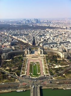 The amazing view over Paris from the top of the tower