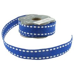 Blue & White Stitched Grosgrain Ribbon | Shop Hobby Lobby