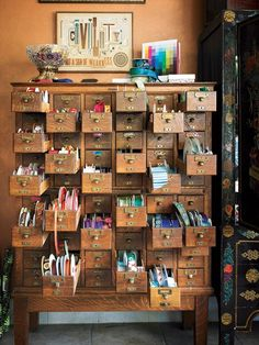 Ideas for craft storage ideas drawers sewing rooms Art Storage, Craft Room Storage, Storage Ideas, Craft Rooms, Storage Drawers, Art Supplies Storage, Extra Storage, Storage Cabinets, Art Studio Organization