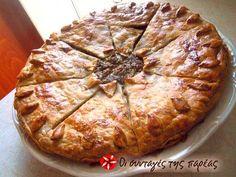 Μελιτζανόπιτα Θεσσαλίας #sintagespareas #melitzanopita #pita #melitzanes Quiche, Greek Cake, Low Sodium Recipes, Pizza, Greek Recipes, Different Recipes, I Foods, Food To Make, Bakery