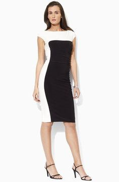 Lauren Ralph Lauren Colorblock Sheath Dress available at #Nordstrom