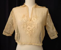 Vintage Teens 20s Blouse // 1920s Embroidered Net Lace Blouse // Circa 1919-1921 http://www.etsy.com/listing/154087877/vintage-teens-20s-blouse-1920s?ref=sr_gallery_12_search_query=blouse_view_type=gallery_ship_to=ZZ_search_type=all