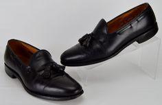 Allen Edmonds Grayson Men's 10.5 Narrow Black Leather Tassel Loafers #AllenEdmonds #LoafersSlipOns