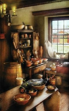 Old primitive country Kitchen