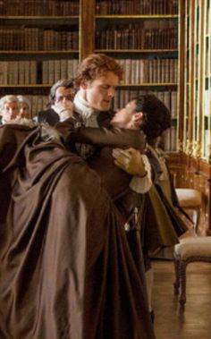 "madame-outlander: ""I don't know why, but I adore this scene. The way Jamie worries about Claire, how he runs to her to see what's happening and how he finally carries her… Awwww, adorable! Worried Jamie is my favourite """