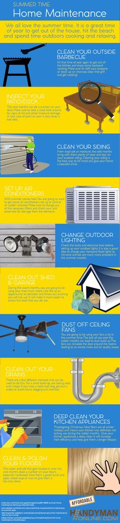 Checklist for Summer Time Home Maintenance #Infographics
