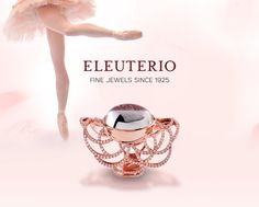 Ring in rose gold filigree with a crystal cabuchon and diamonds from the Deco Filigree collection Gold Filigree, Portuguese, Luxury Branding, Portugal, Diamonds, Wedding Rings, Rose Gold, Bling, Traditional