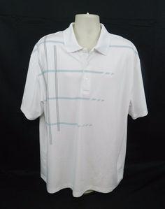 Ben Hogan Performance White Golf Polo Short Sleeve Shirt 2XL 50/52 #BenHogan #PoloRugbyGolf