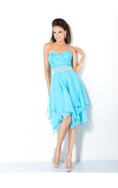 Blau Etui-Linie Knielang Herzförmiger Ausschnitt Kleid