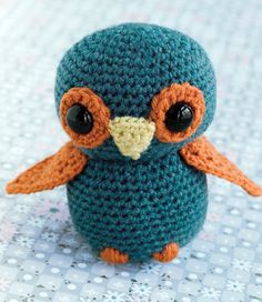 Cutest Little Owl By Tamie Snow - Free Crochet Pattern - See http://www.ravelry.com/patterns/library/cutest-little-owl For Additional Projects - (coatsandclark)  ||  ♡ MUST DO, FOR MY NO.2! [The Owl Lover!]  ♥A