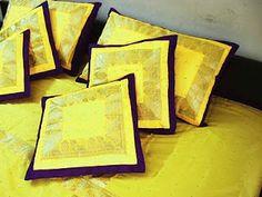 traditional indian sari for pillows