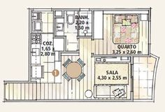 Apartamento compacto de 47 m² ganhou reforma econômica - Casa