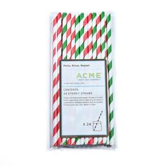 Christmas Paper Straws 2Pk now featured on Fab.