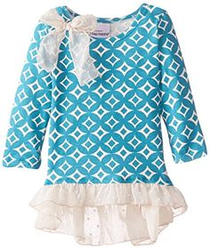 Flap Happy Baby Girls Ashley Hi lo Print Tunic With Crushed Velvet or Chiffon Ruffle Rustic Gems 24 Months * Click image for more details.