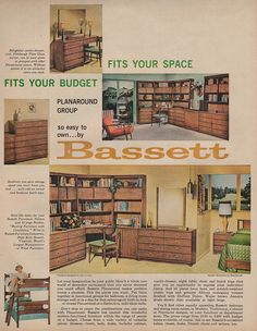 Awesome Bassett Planaround Group, 1960 · Mcm FurnitureVintage ...