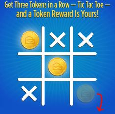 Get Three Tokens in a Row - Tic Tac Toe - and a Token Reward Is Yours Publisher Clearing House, Online Sweepstakes, Tic Tac Toe, The Row, Games, Gaming, Plays, Game, Toys