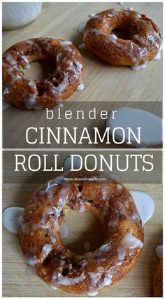 Blender Cinnamon Roll Donuts [no flour, added protein]