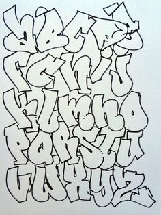 Graffiti Lessons Fly Progression Cast Progression Rock Progression (quick sketch) simple Tear Drop Cuts pt 2 Throw Ups Bubble Wav. Grafitti Alphabet, Graffiti Lettering Alphabet, Graffiti Alphabet Styles, Graffiti Words, Graffiti Drawing, Graffiti Styles, Street Art Graffiti, Fancy Letters, Letter Art