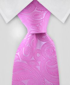 Paisley Tie - Pink on Pink Paisley