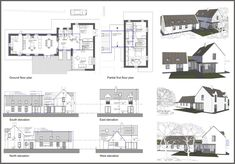 Louise Sliney Architects MRIAI |Cork | Kinsale Rural House, Cottage House Plans, Cottage Homes, House Designs Ireland, Passive House Design, Cottage Extension, Building Extension, Two Storey House, Cottage Renovation