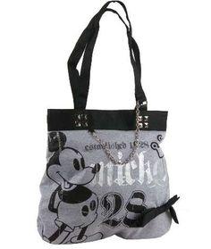 Black & Grey Mickey Mouse ''Vintage 1928 Print'' Tote Handbag $19.99