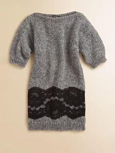 Dolce & Gabbana Girl's Lace Sweater Dress REALLY!!! $335.00 :(