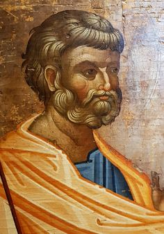 Byzantine Art, Byzantine Icons, Icon Clothing, Art Icon, Hair And Beard Styles, Saints, Face, Painting, Fictional Characters