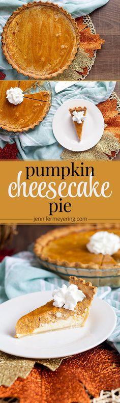 Pumpkin Cheesecake Pie - JenniferMeyering.com