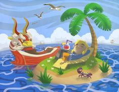 This is all I wanted to do in Wind Waker<<< the lady gives you a frickin private island but noooo you don't get to enjoy it