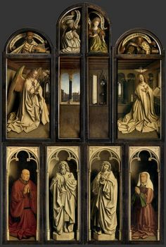 This is the Ghent Altarpiece by Jan van Eyck, created in 1432.