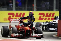 History repeats itself. 2013 Singapore GP - Fernando Alonso & Mark Webber